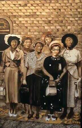 "The Church Ladies oil on panel 18""x24"""